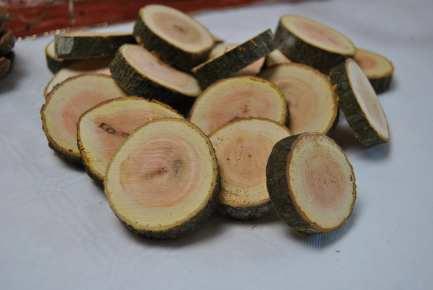 Holzscheiben mit rotem kern durchmesser 3 6 cm online kaufen - Deko kern ...