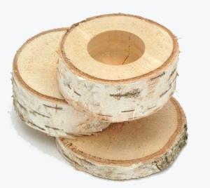 Baumscheiben teelichthalter bastelbedarf - Deko aus birkenholz ...