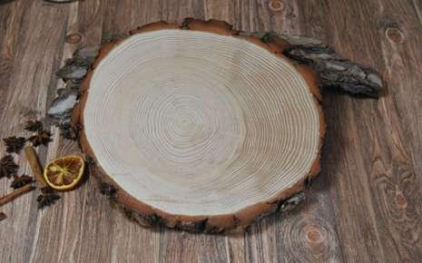 Baumscheibe Holzscheibe Scheibe aus Holz Deko Birkenholz 12-15 cm 20 mm 1 St.